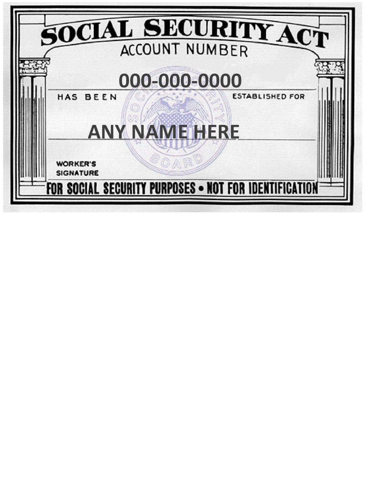 Free social security card template 10