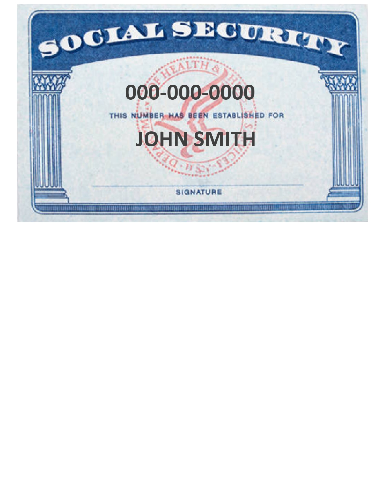 Free social security card template 12