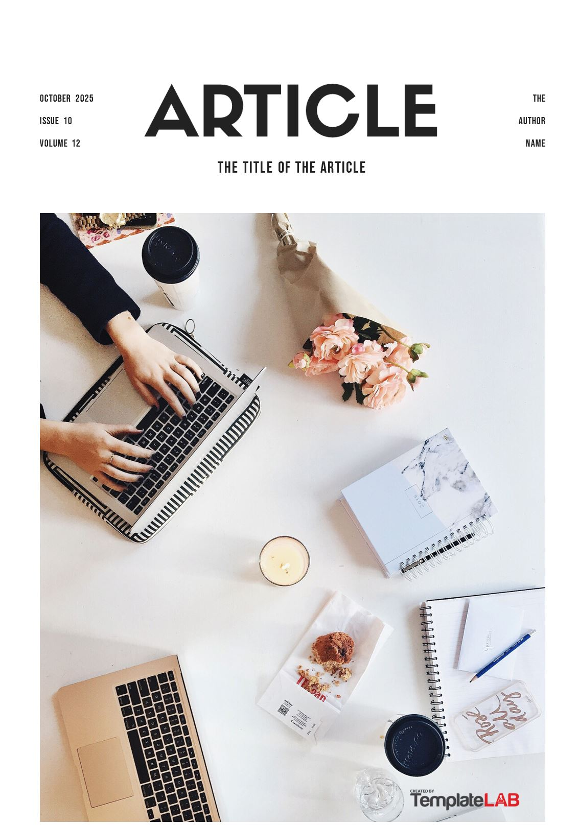 Free Article Cover Page Template