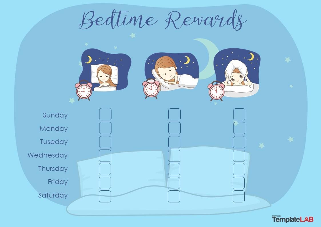 Free Bedtime Rewards Chart