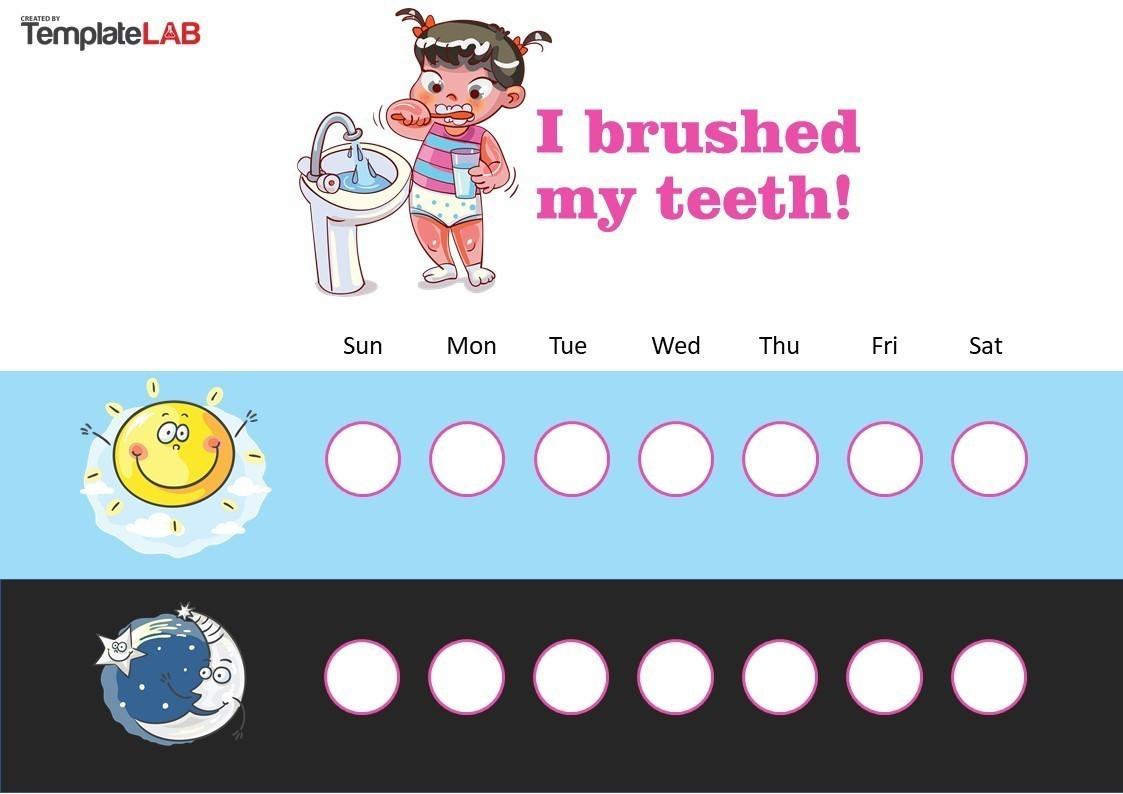 Free Brushing Teeth Rewards Chart
