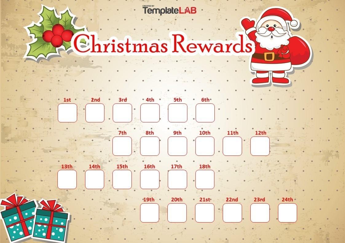 Free Christmas Rewards Chart