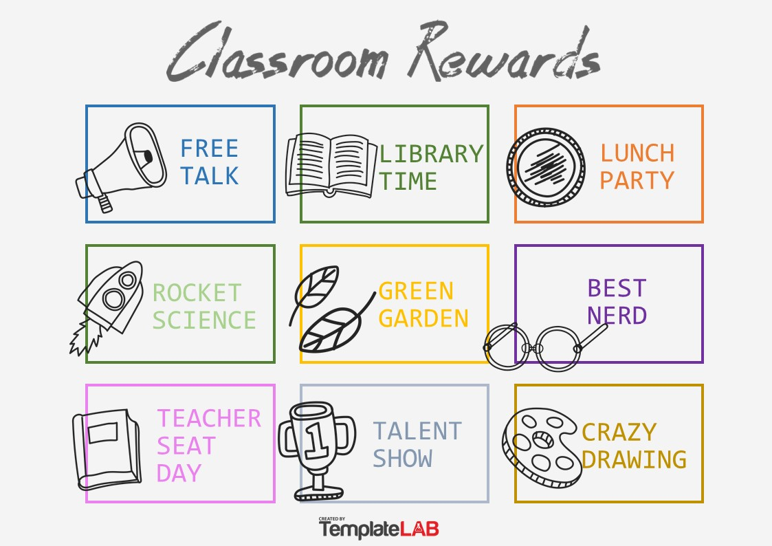 Free Classroom Rewards Chart