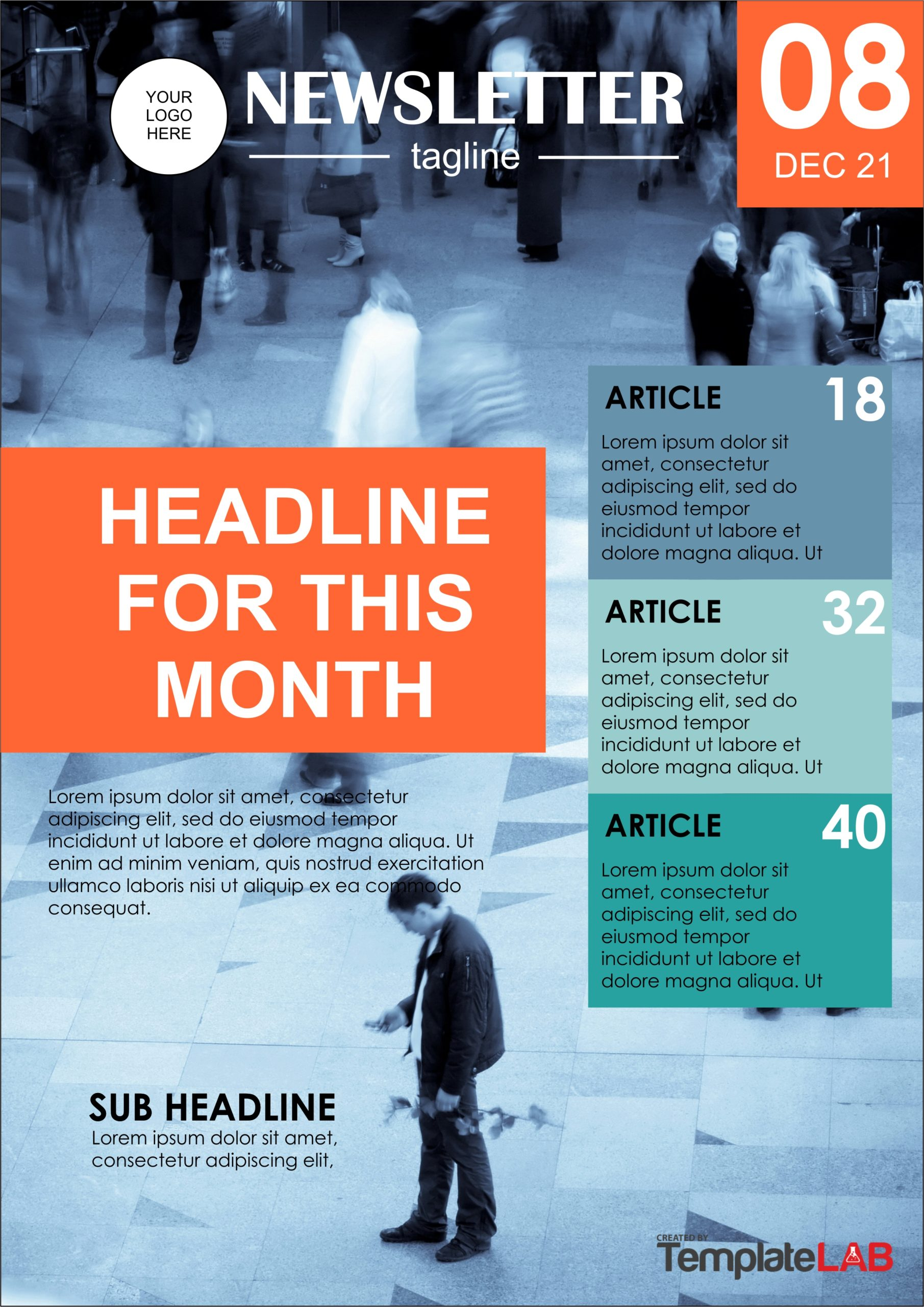 Free Newsletter Cover Page Template