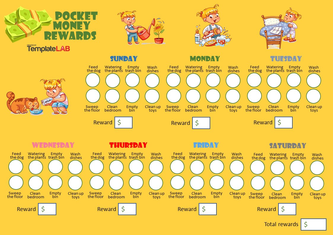 Free Pocket Money Rewards Chart