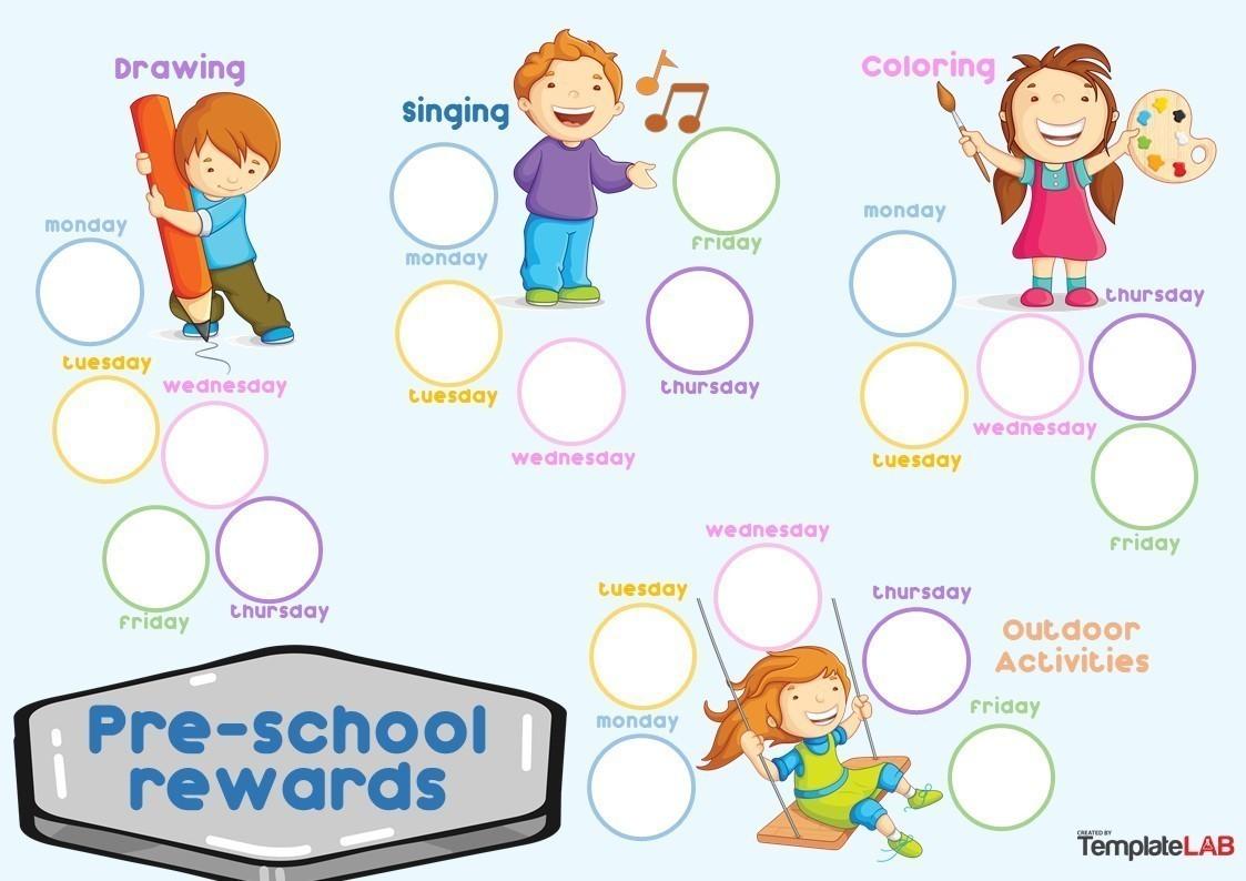 Free Preschool Rewards Chart