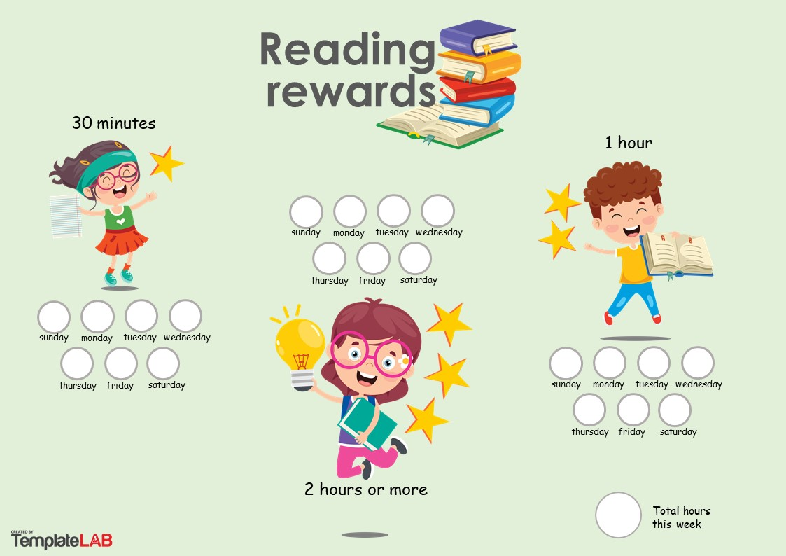 Free Reading Rewards Chart