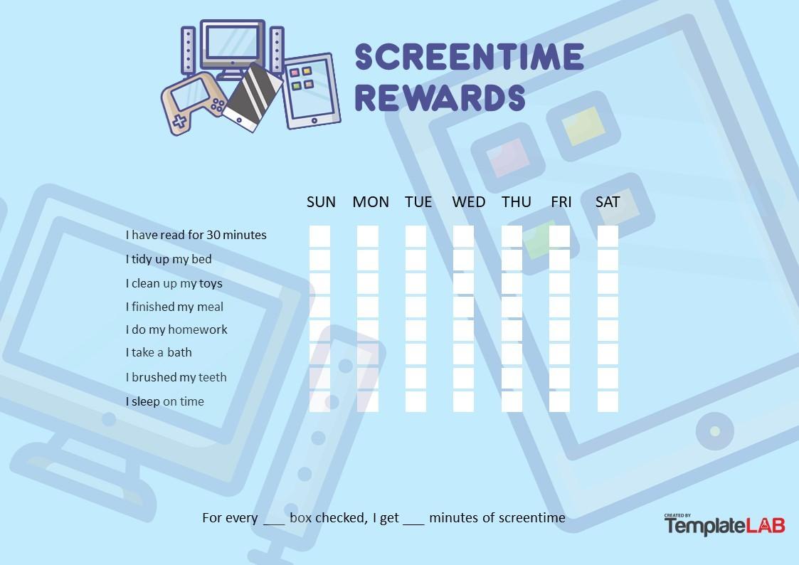 Free Screentime Rewards Chart