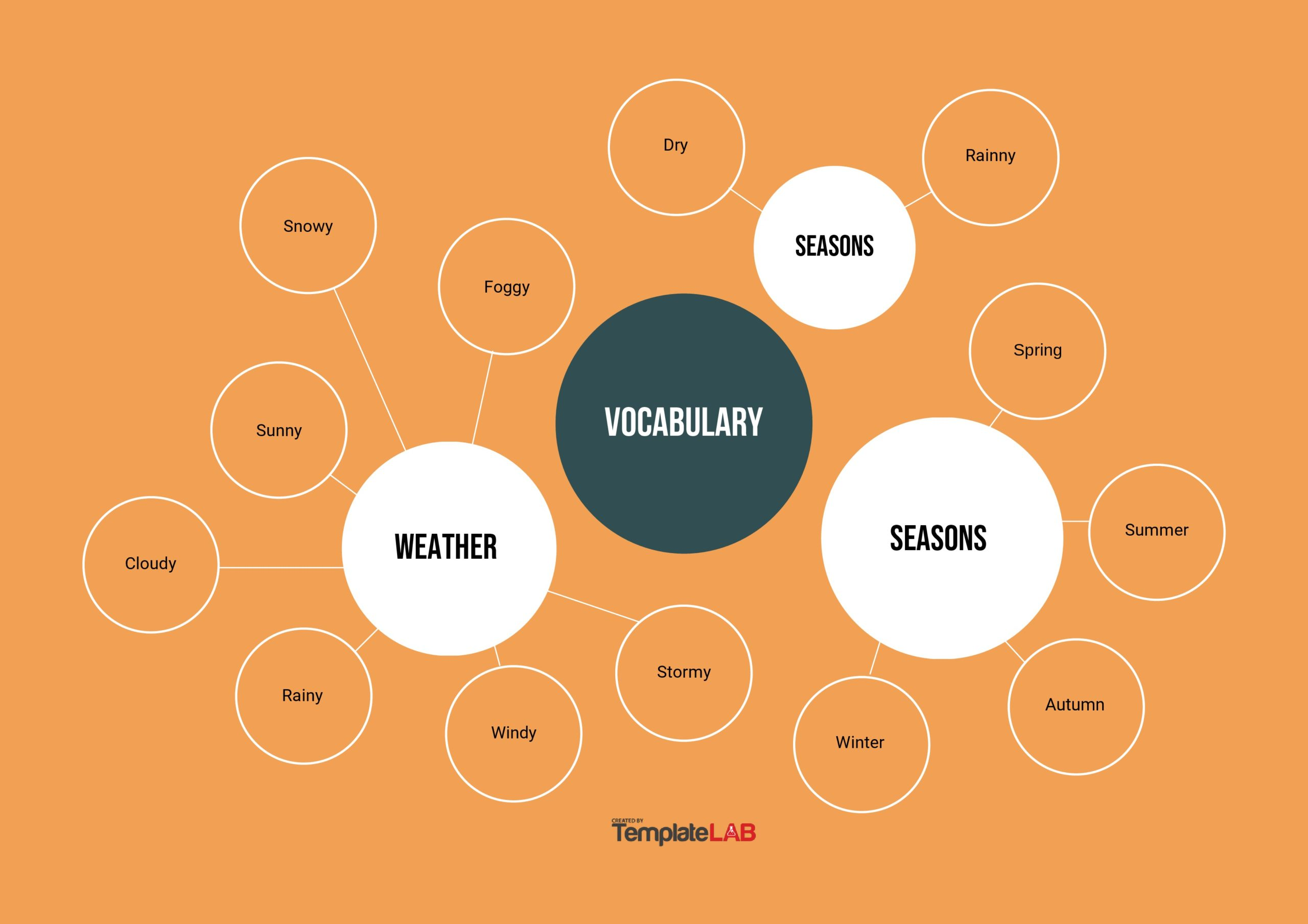 Free Vocabulary Mind Map Template