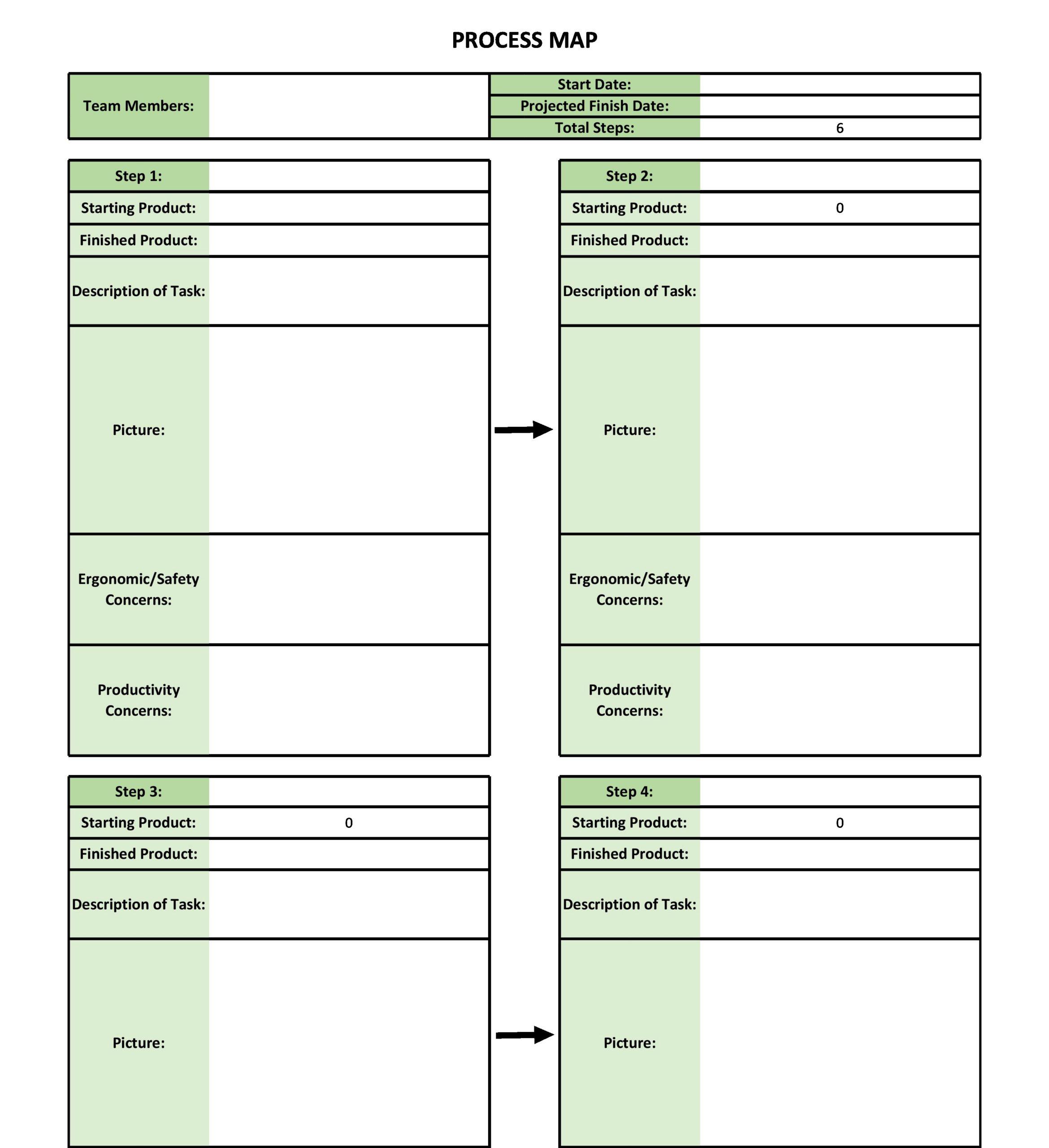 Free process map template 06