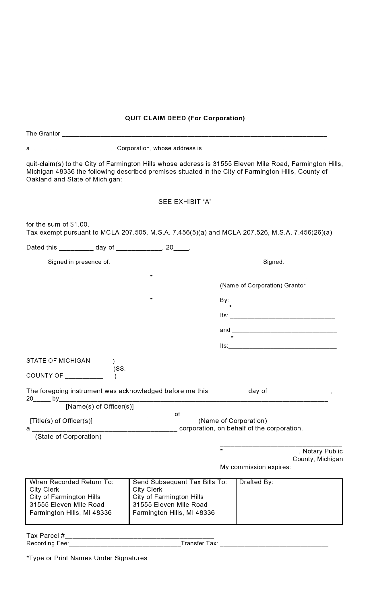 Free quit claim deed form 05