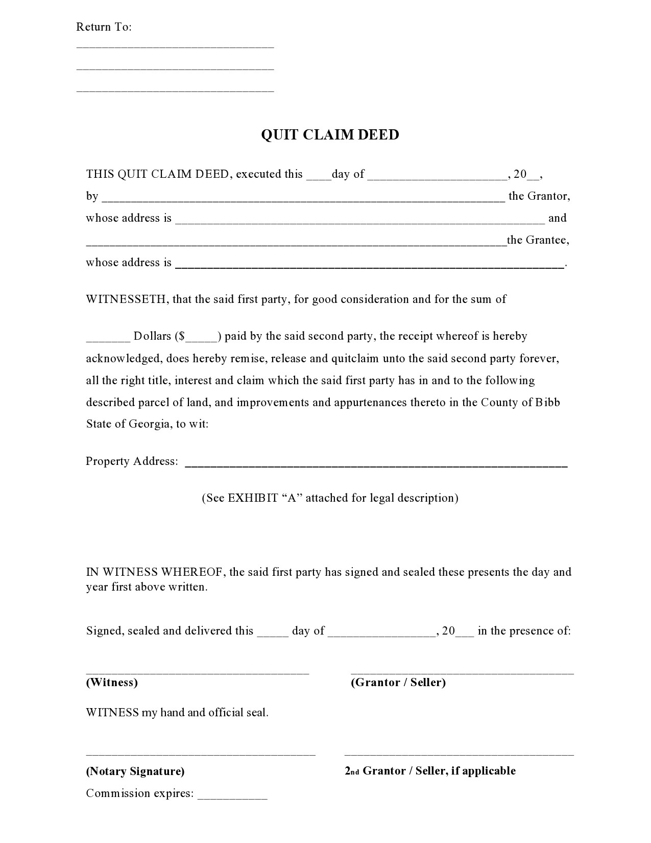 Free quit claim deed form 06