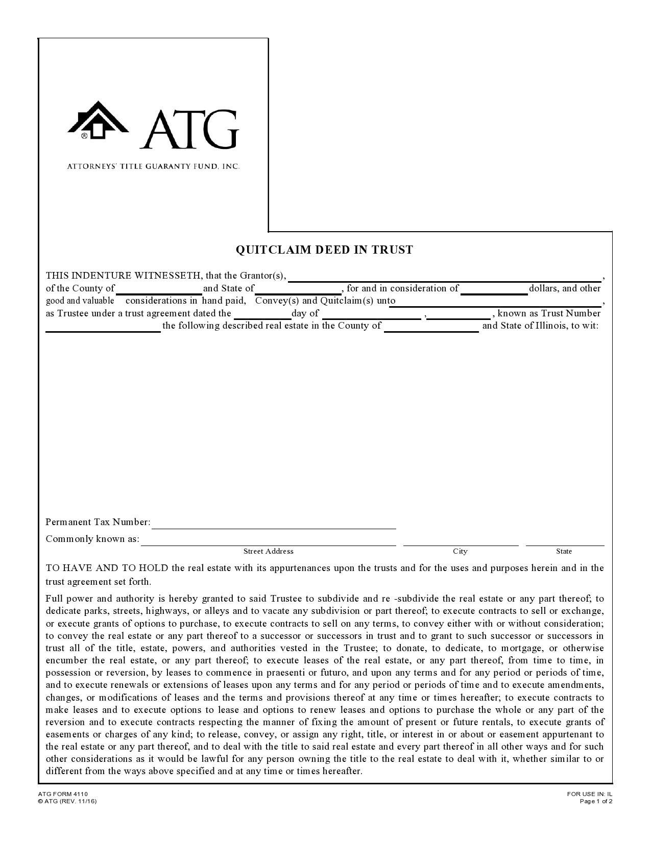 Free quit claim deed form 10