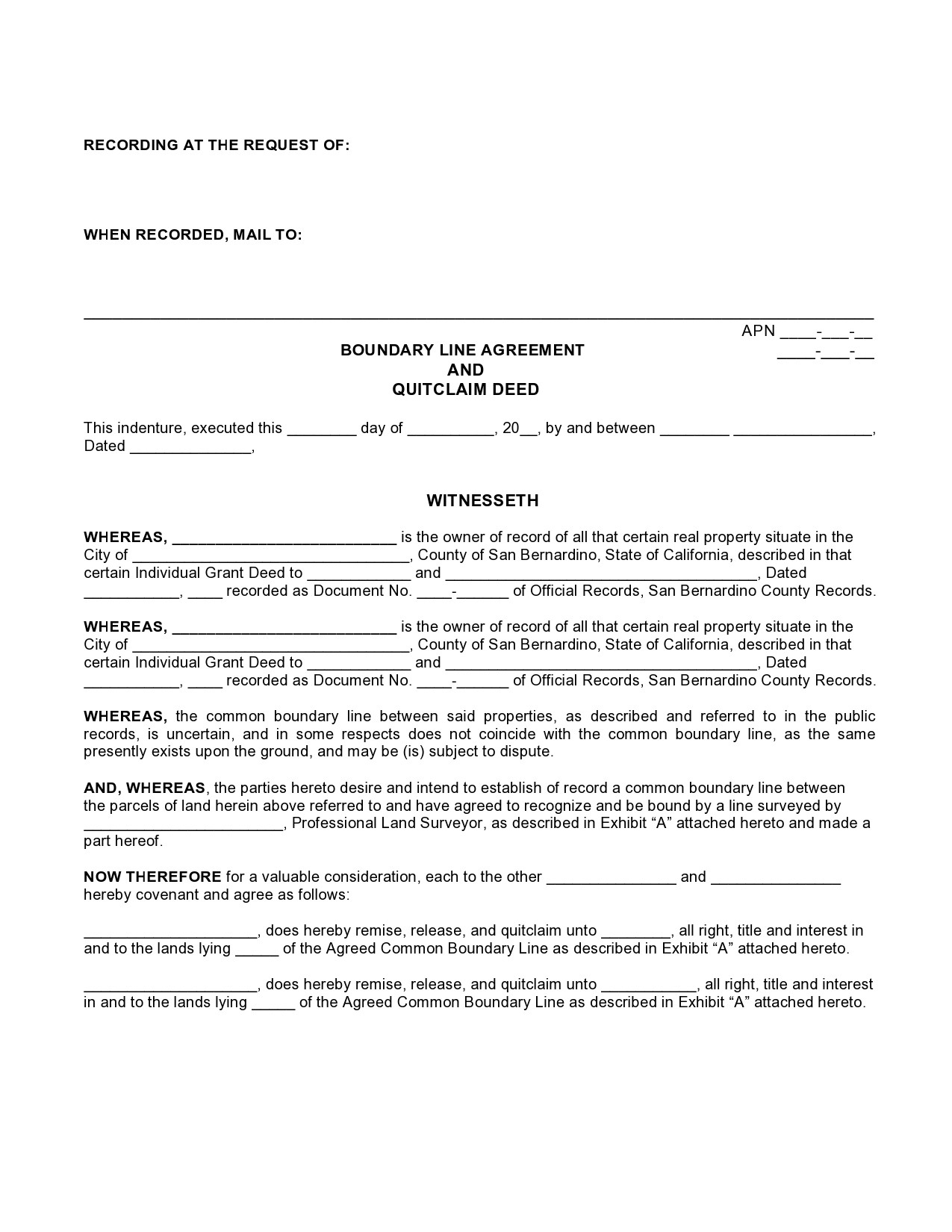 Free quit claim deed form 13