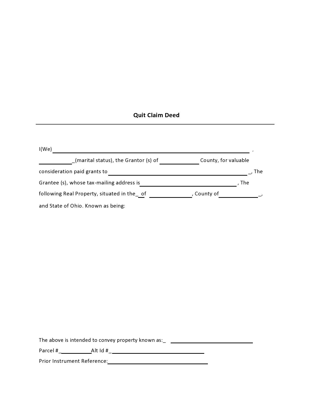 Free quit claim deed form 18