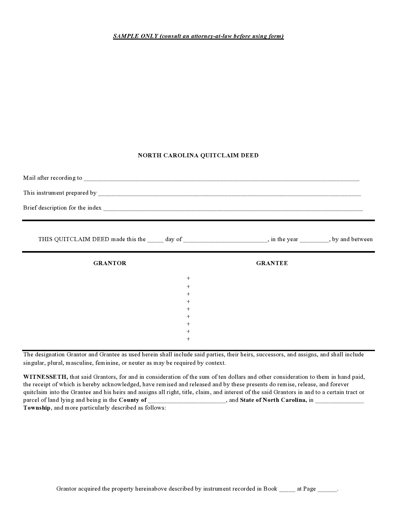 Free quit claim deed form 37