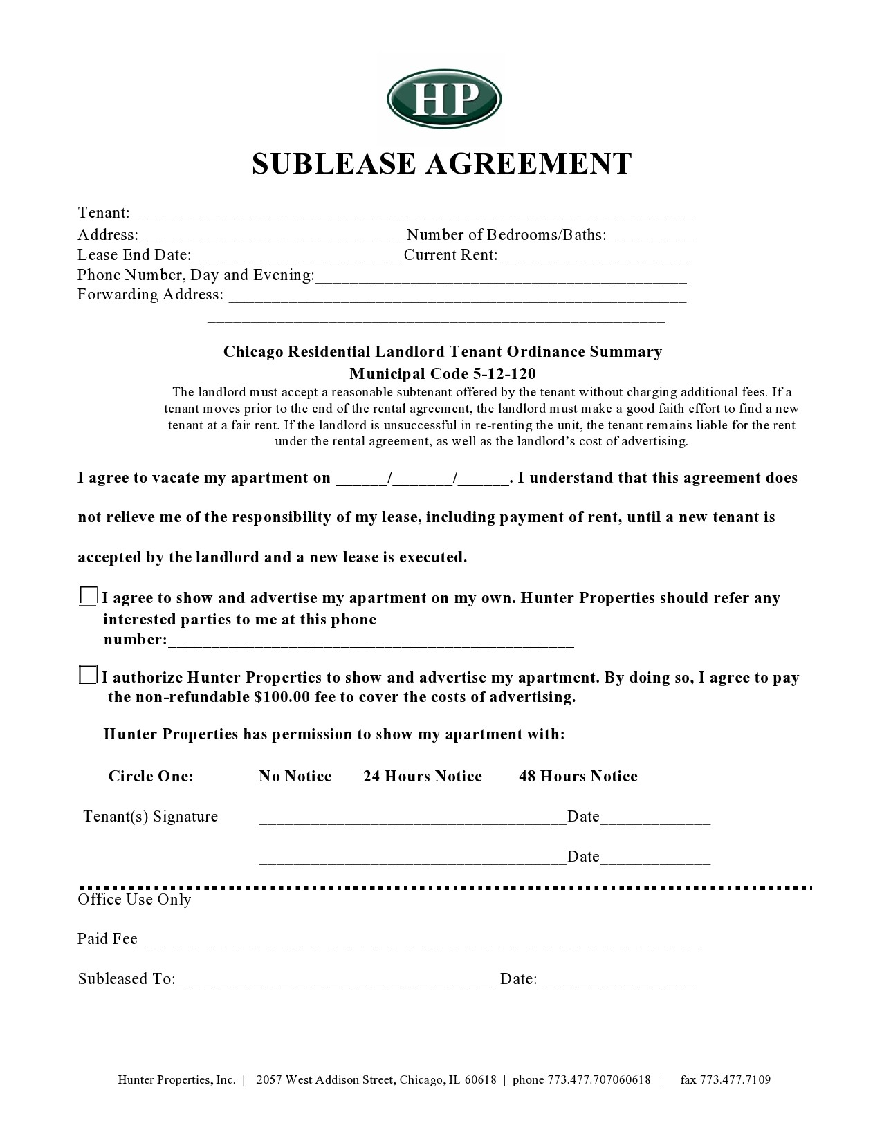 Free residential sublease agreement 05