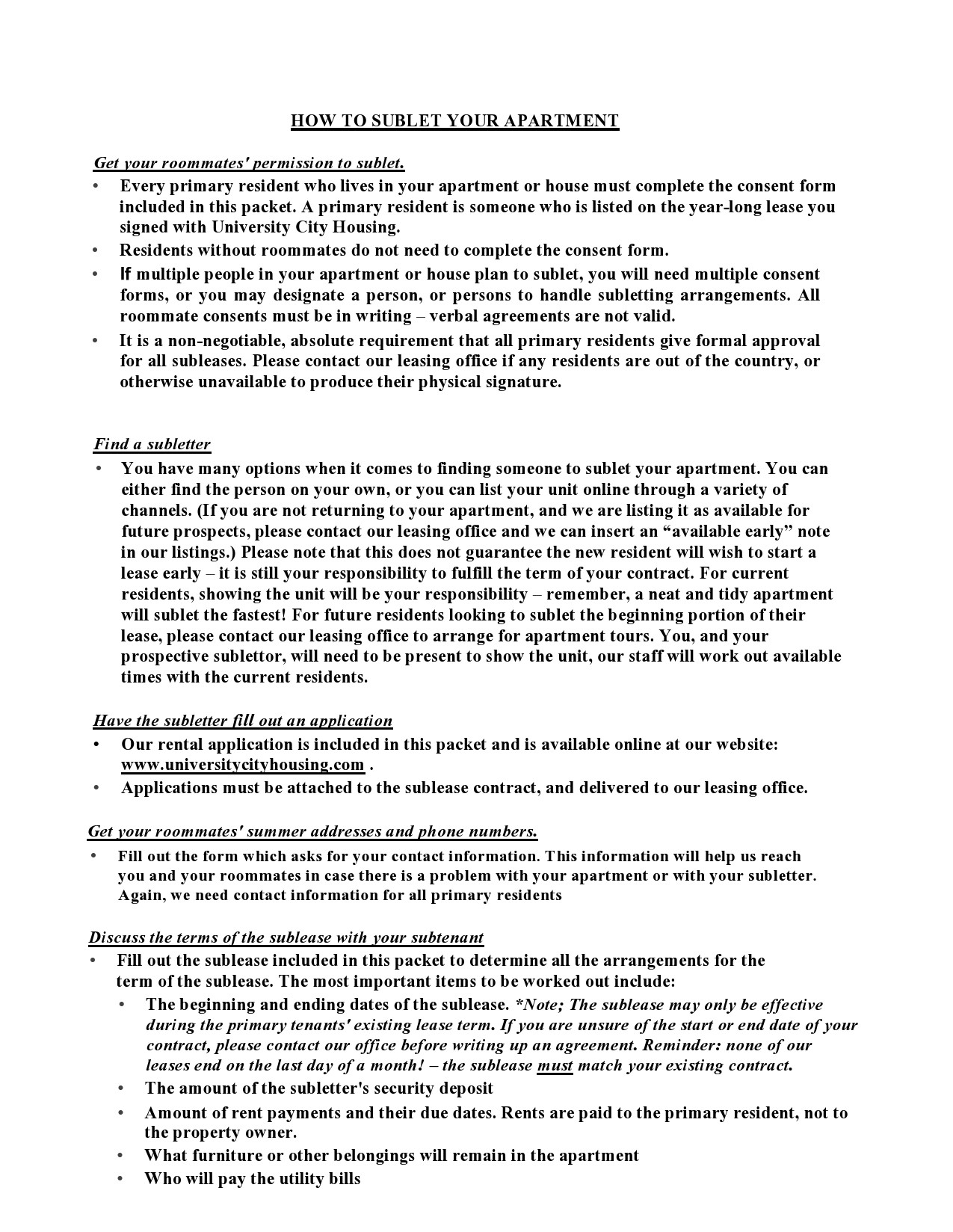 Free residential sublease agreement 28