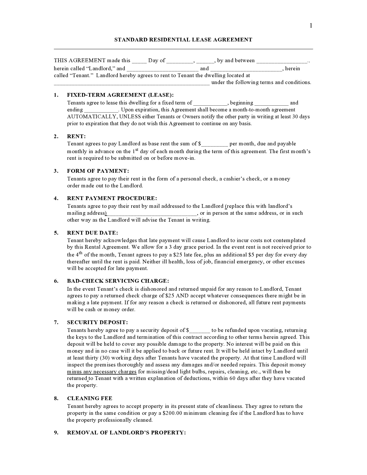Free residential sublease agreement 31