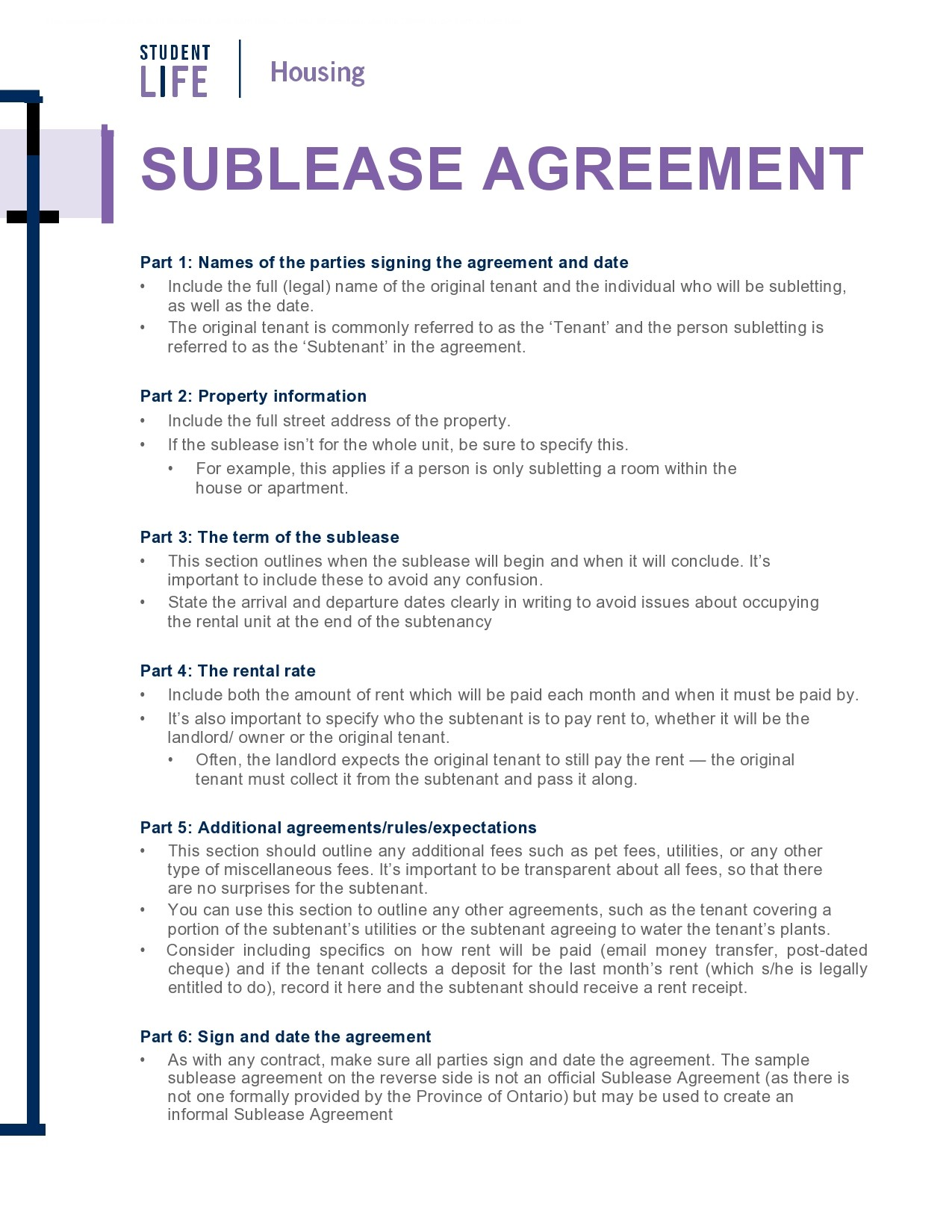 Free residential sublease agreement 37
