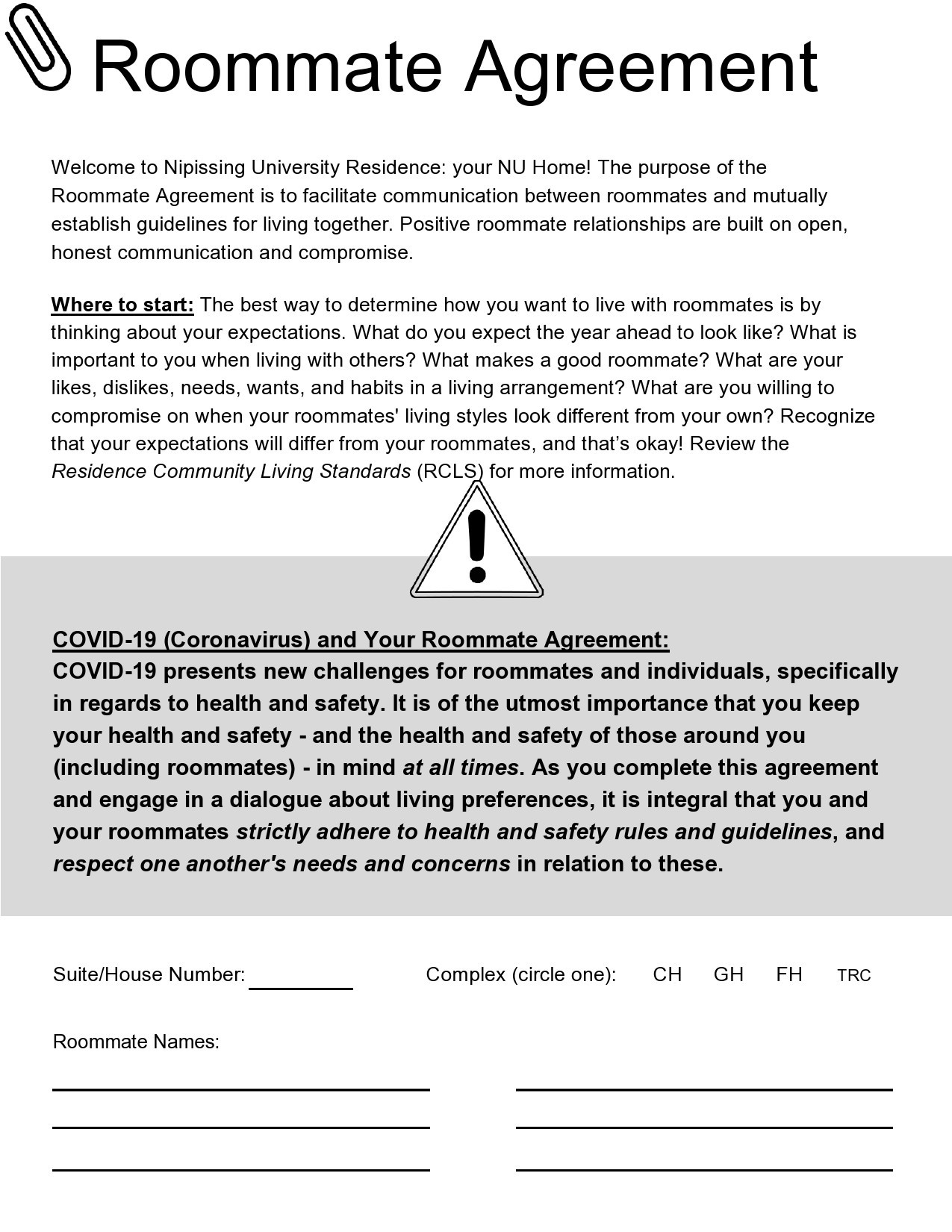 Free roommate agreement template 19