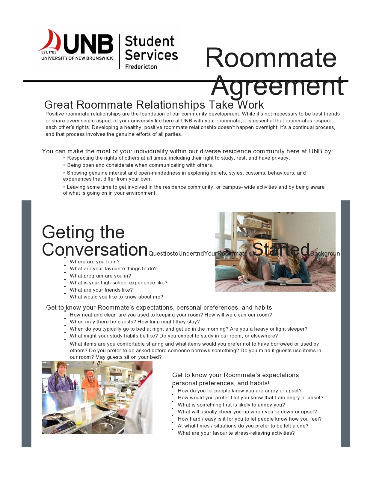 Free roommate agreement template 40