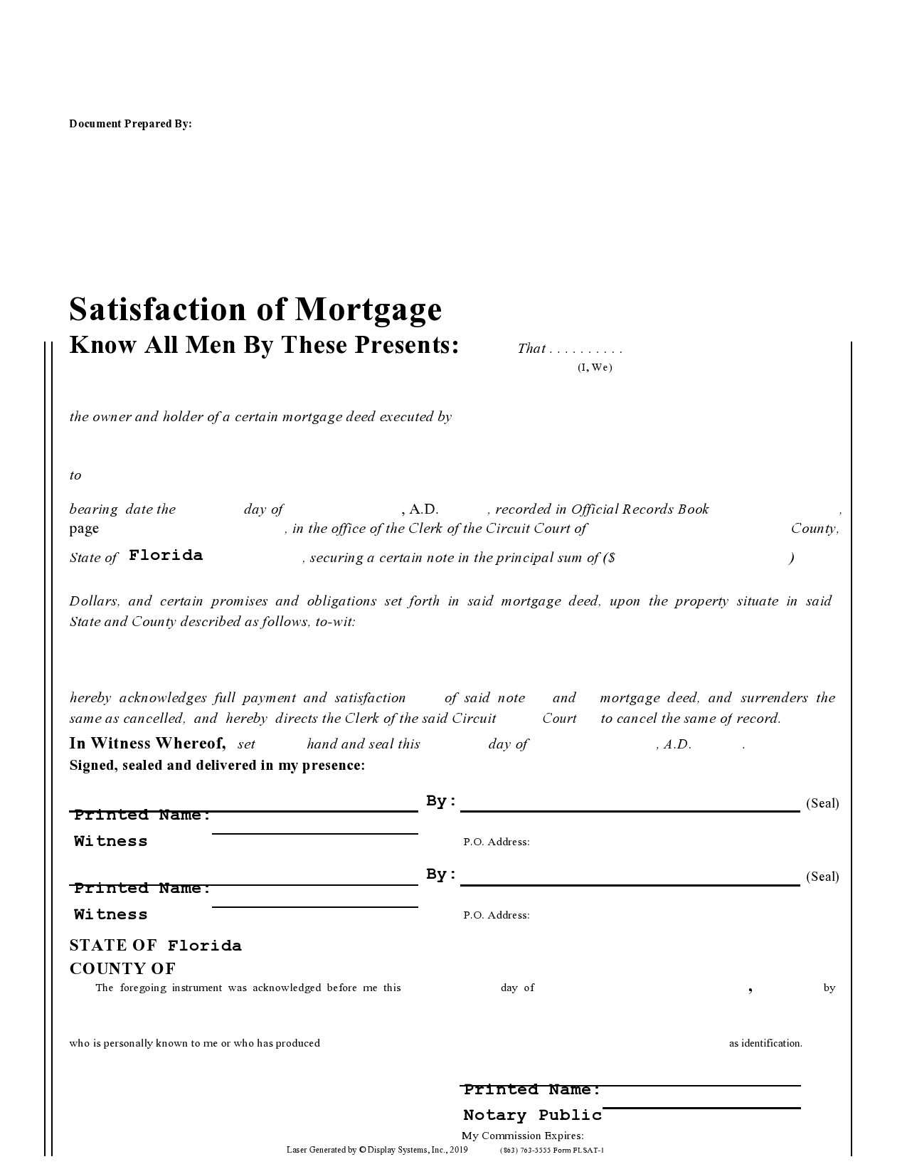 Free satisfaction of mortgage 22