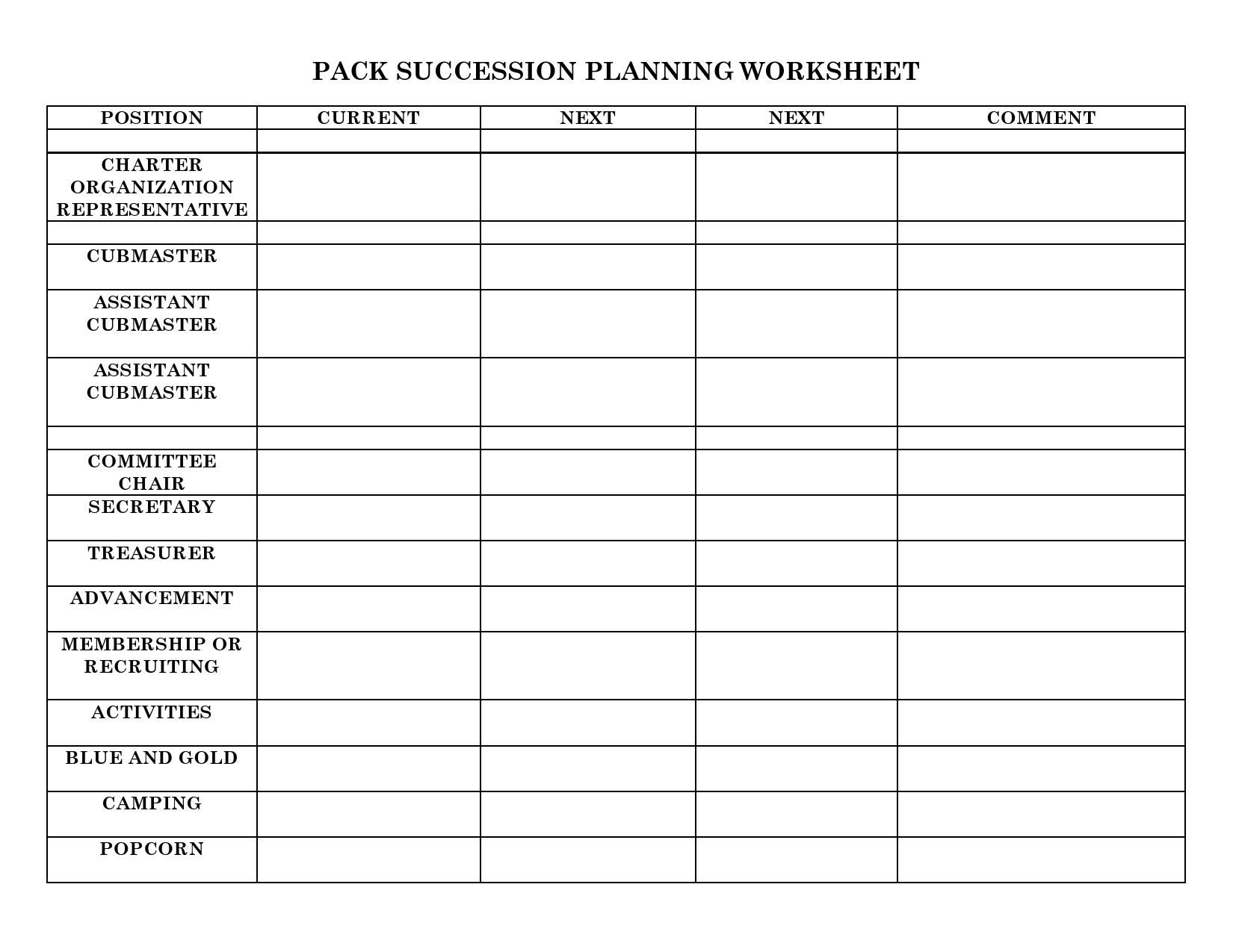 Free succession planning template 06