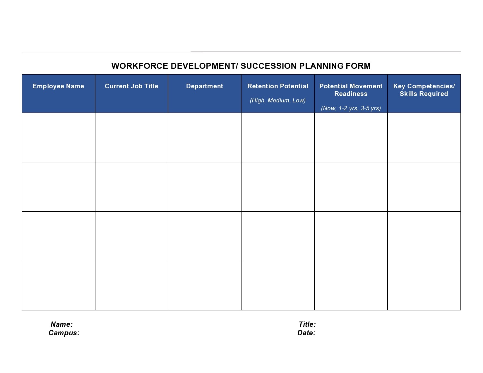 Free succession planning template 08