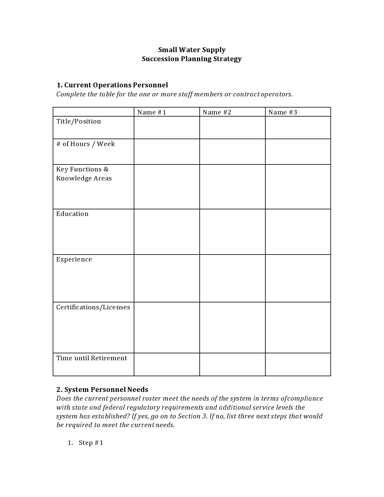 Free succession planning template 16
