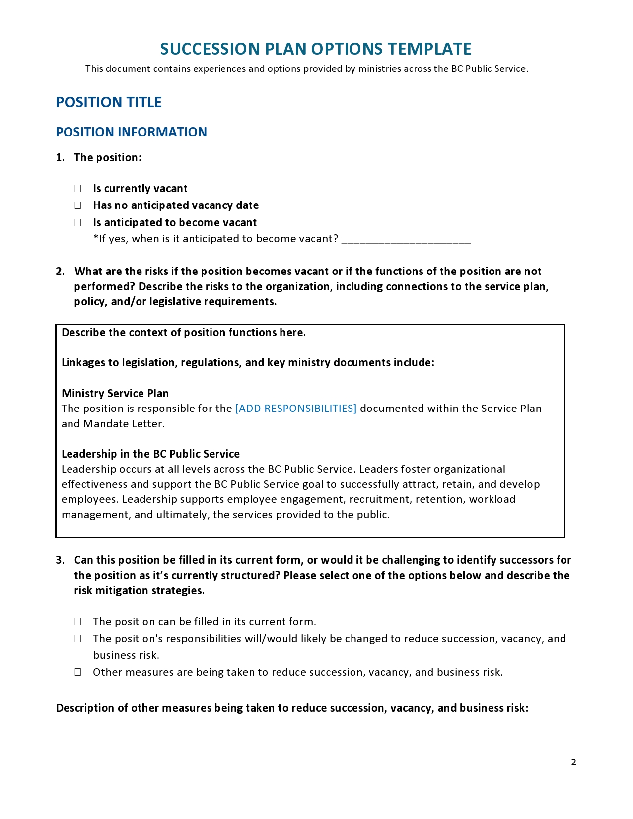 Free succession planning template 17