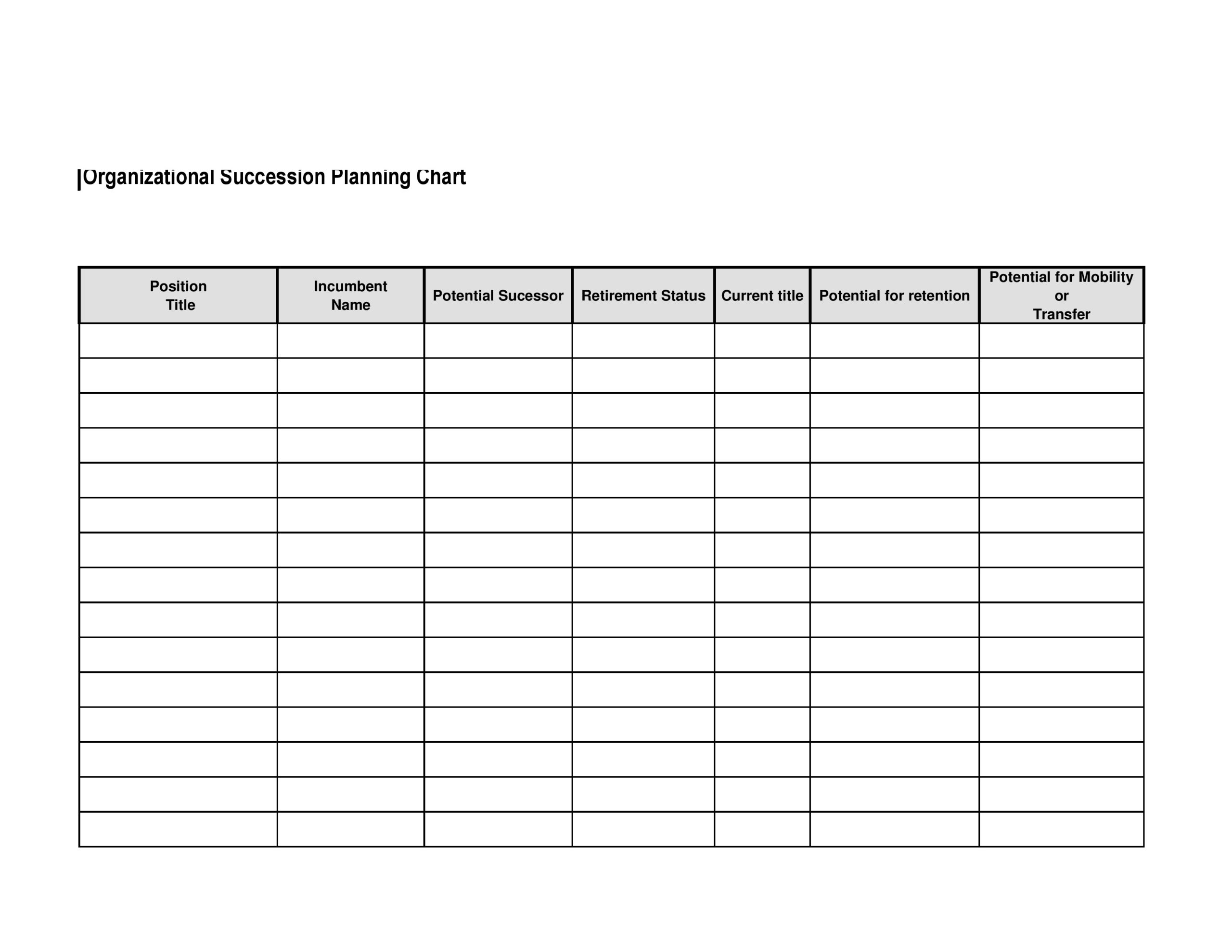 Free succession planning template 18
