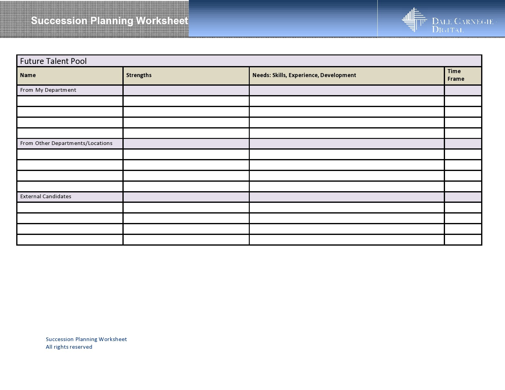Free succession planning template 22