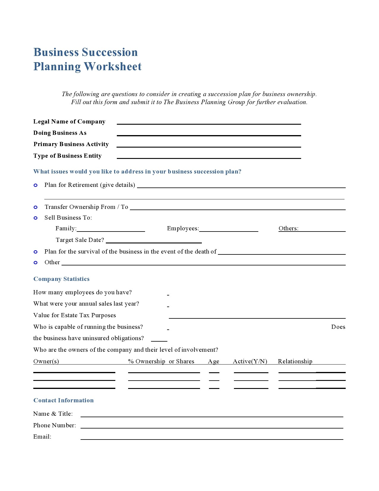 Free succession planning template 26
