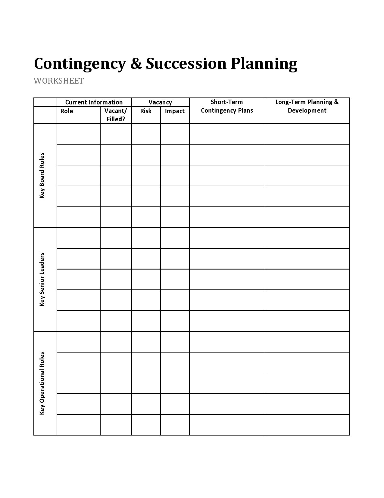 Free succession planning template 29