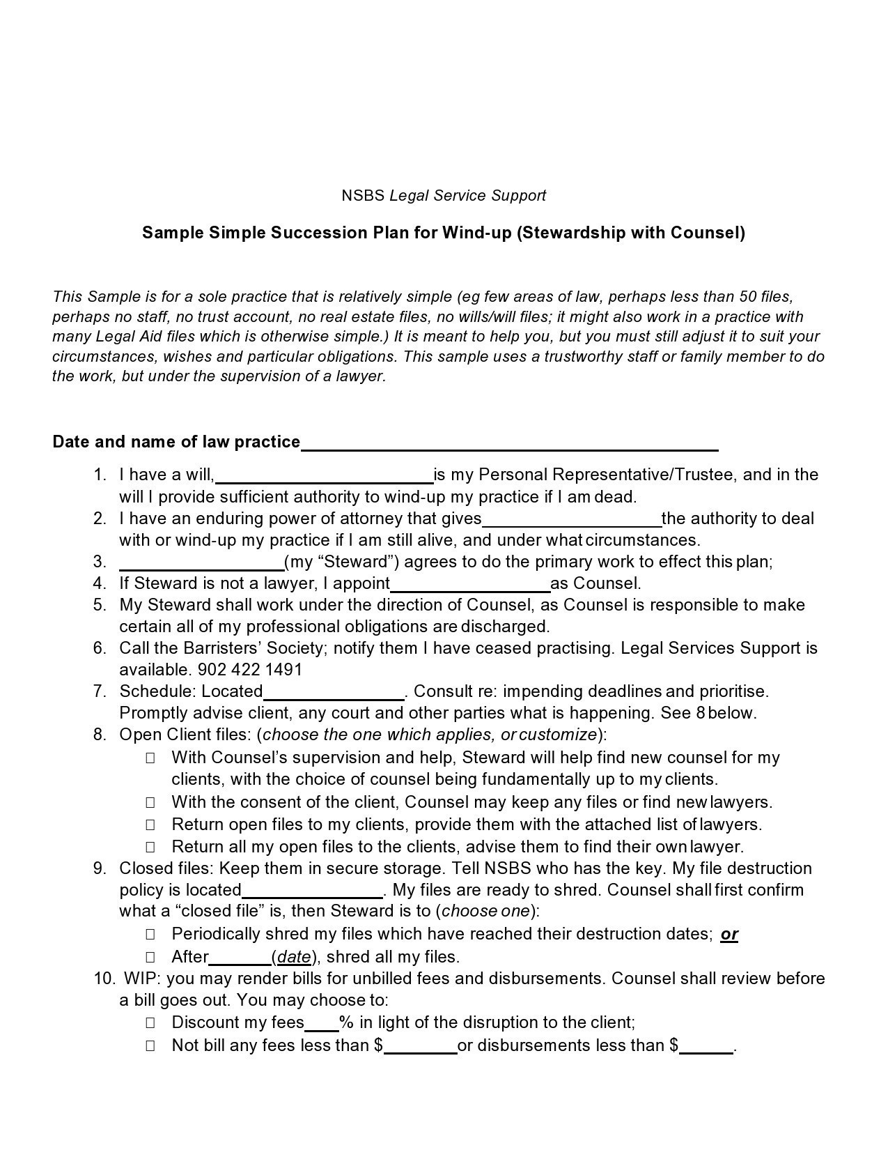 Free succession planning template 30