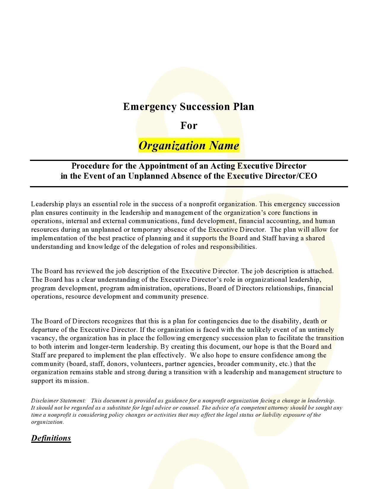Free succession planning template 32