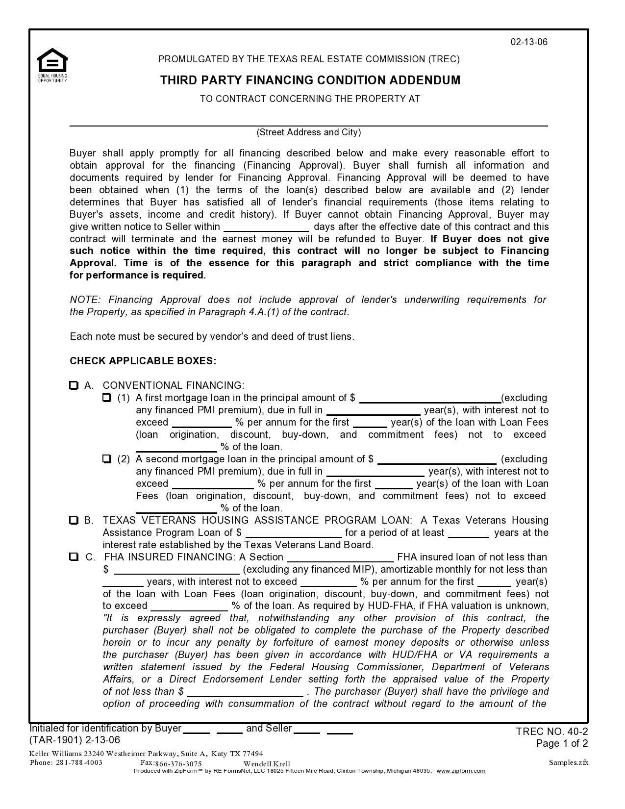 Free third party financing addendum 03