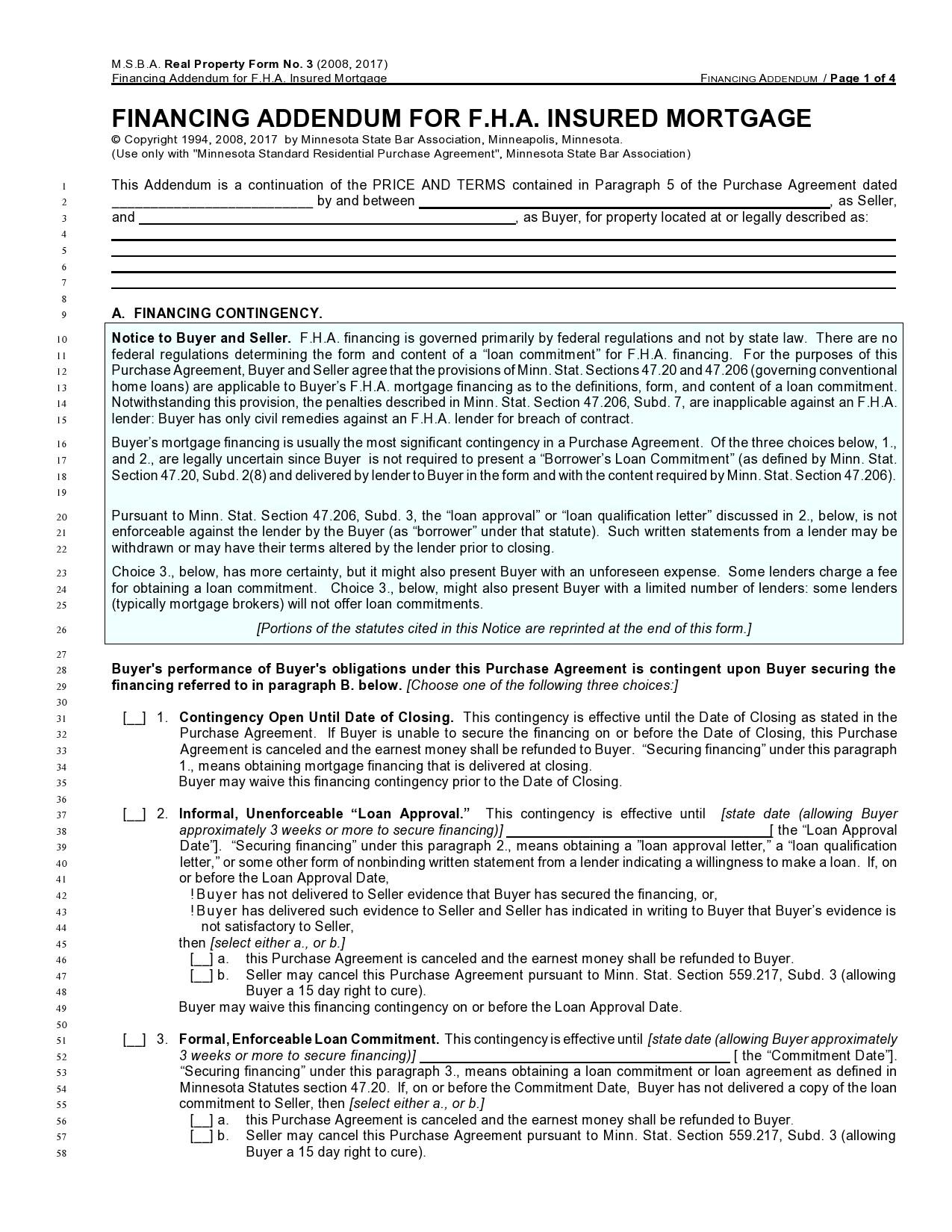 Free third party financing addendum 07