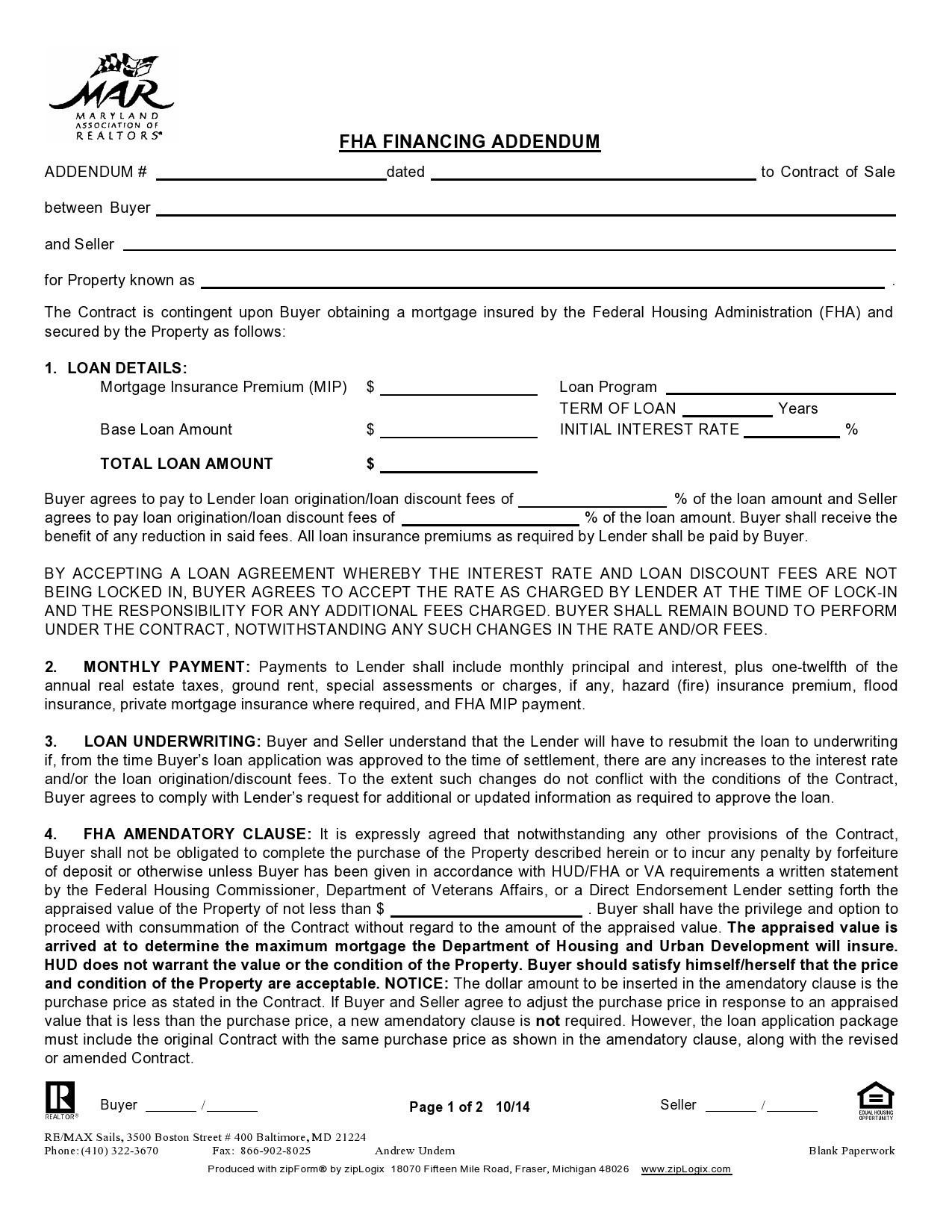 Free third party financing addendum 08