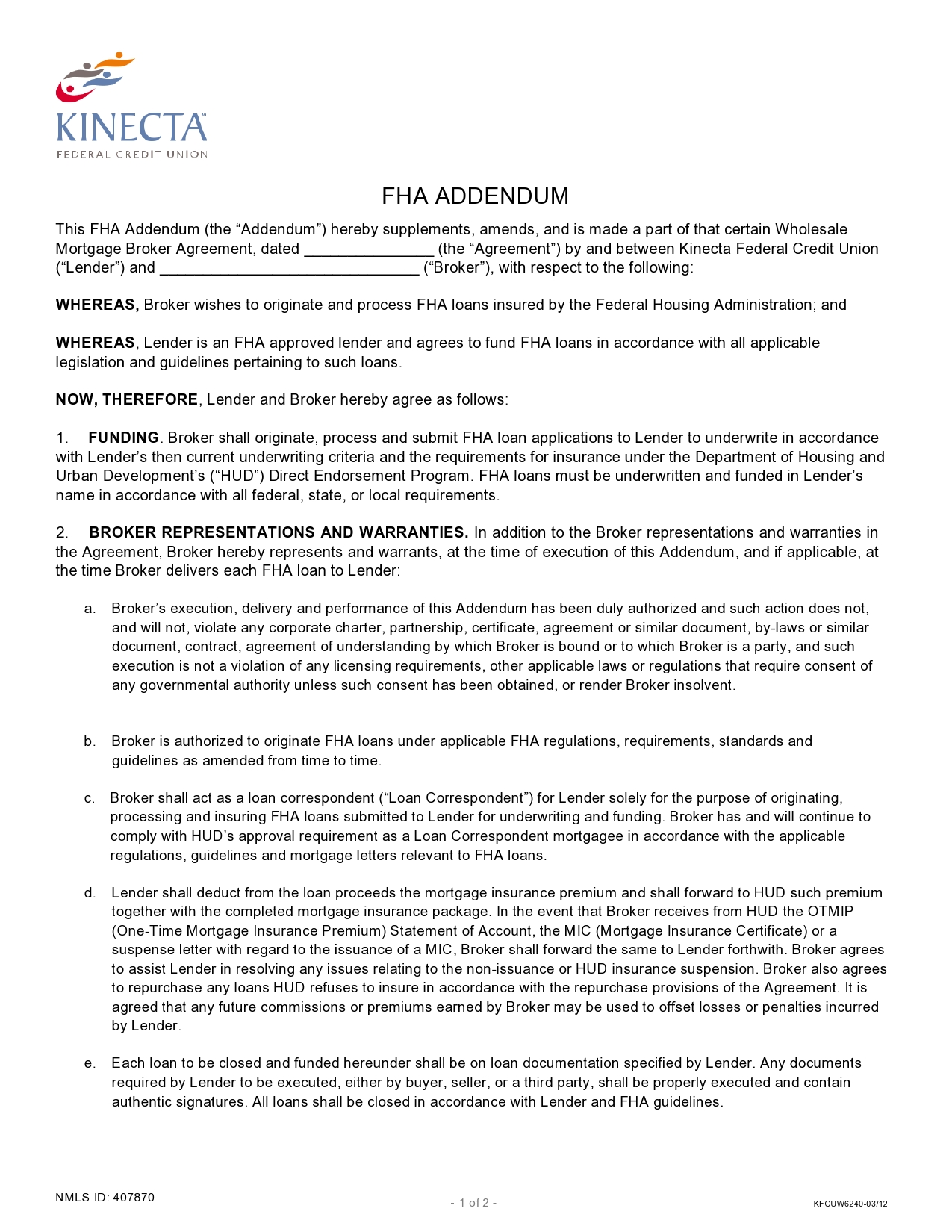 Free third party financing addendum 09
