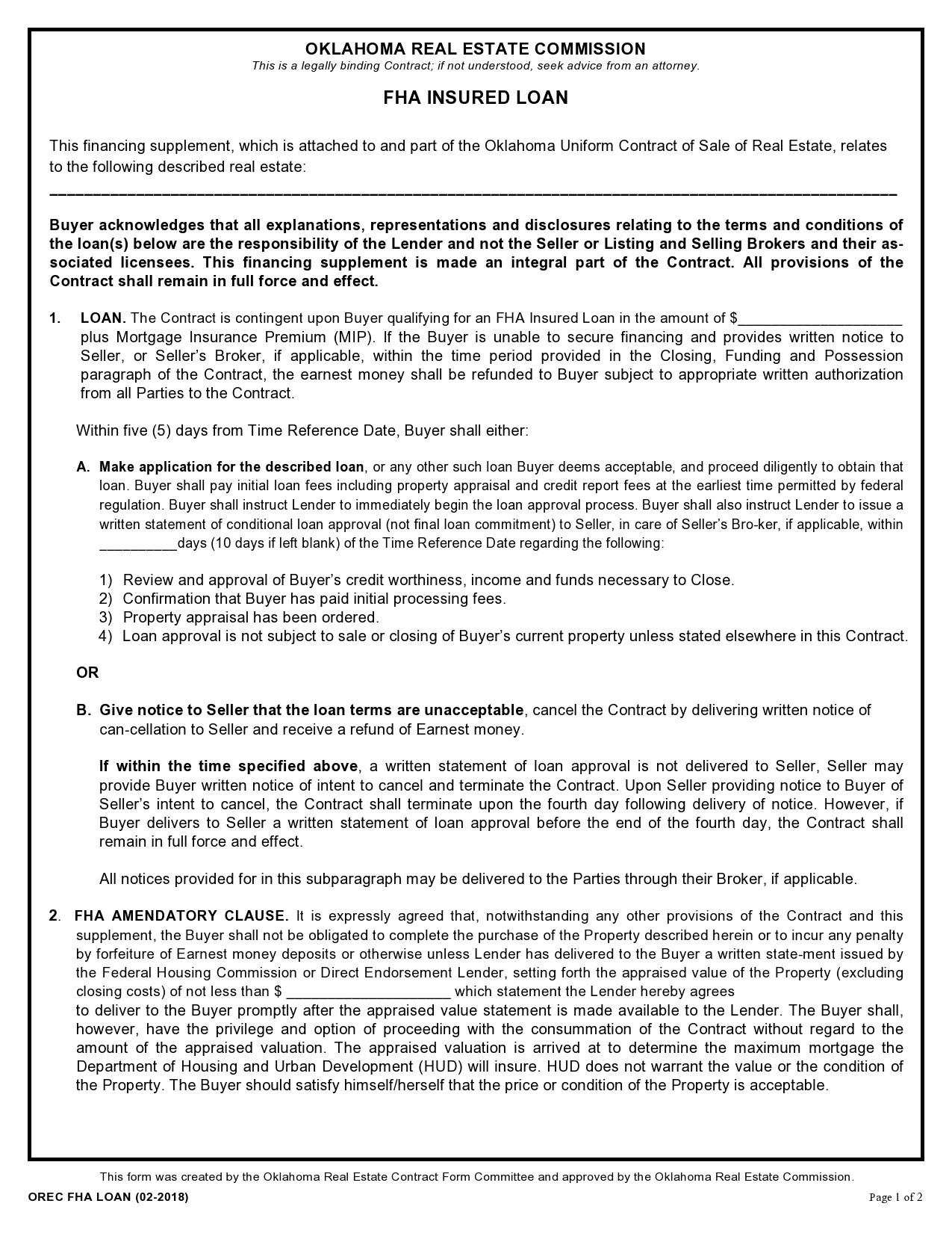 Free third party financing addendum 10