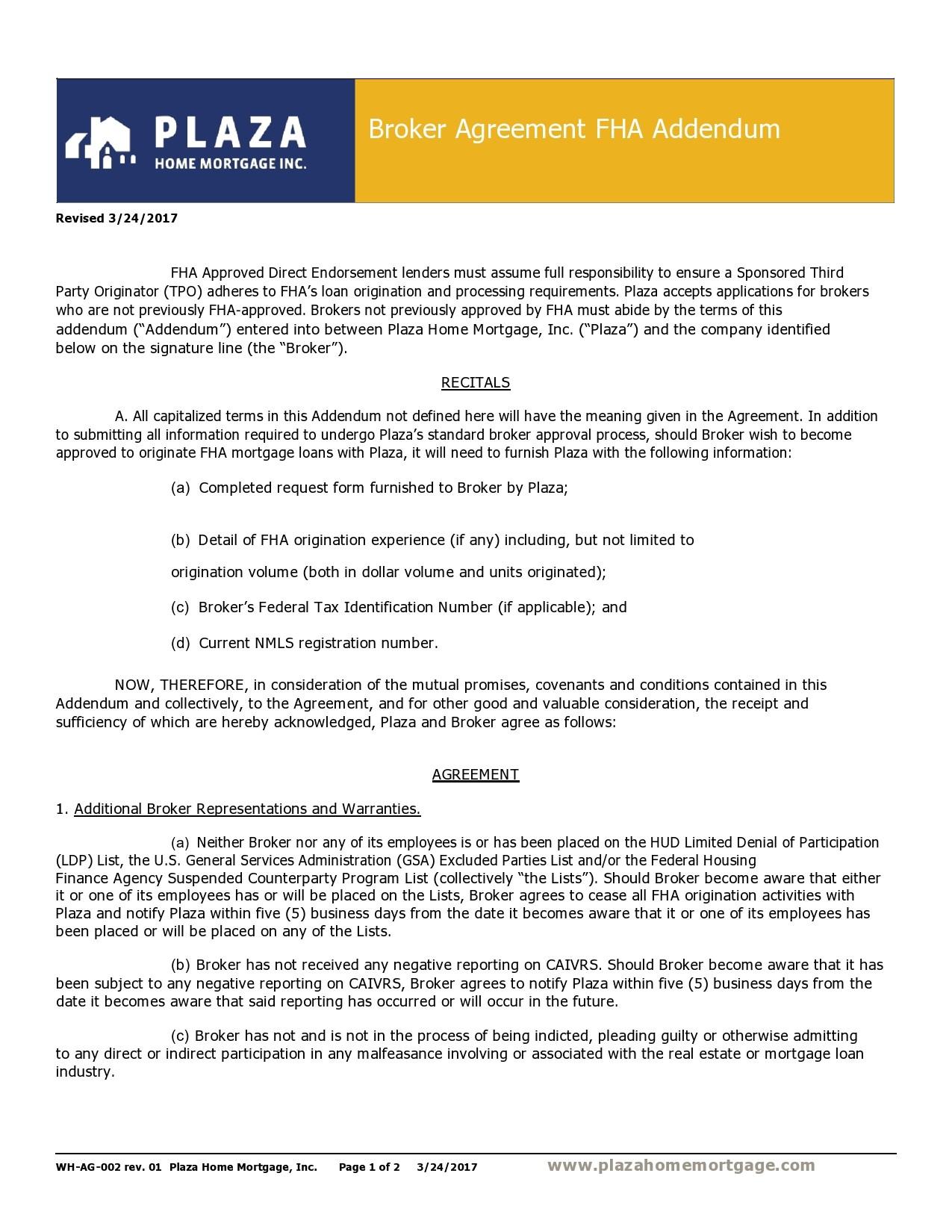 Free third party financing addendum 13