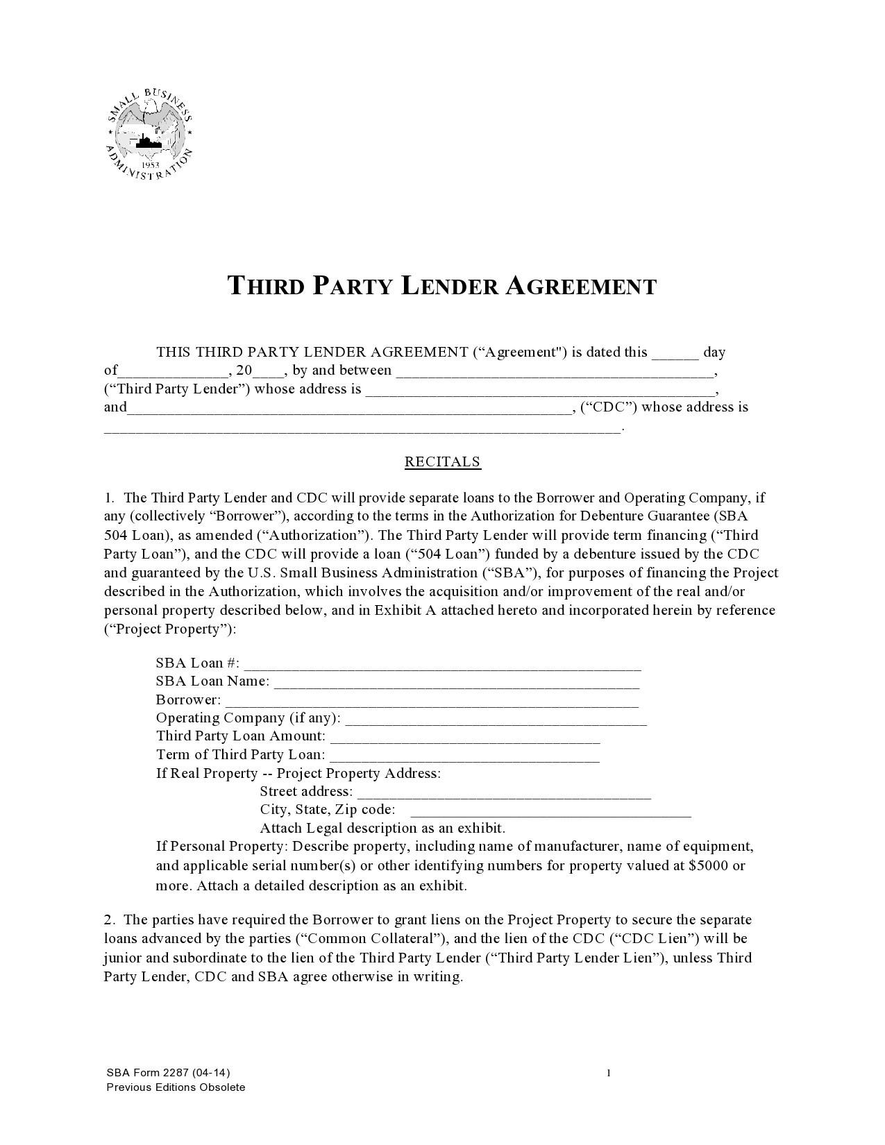Free third party financing addendum 14