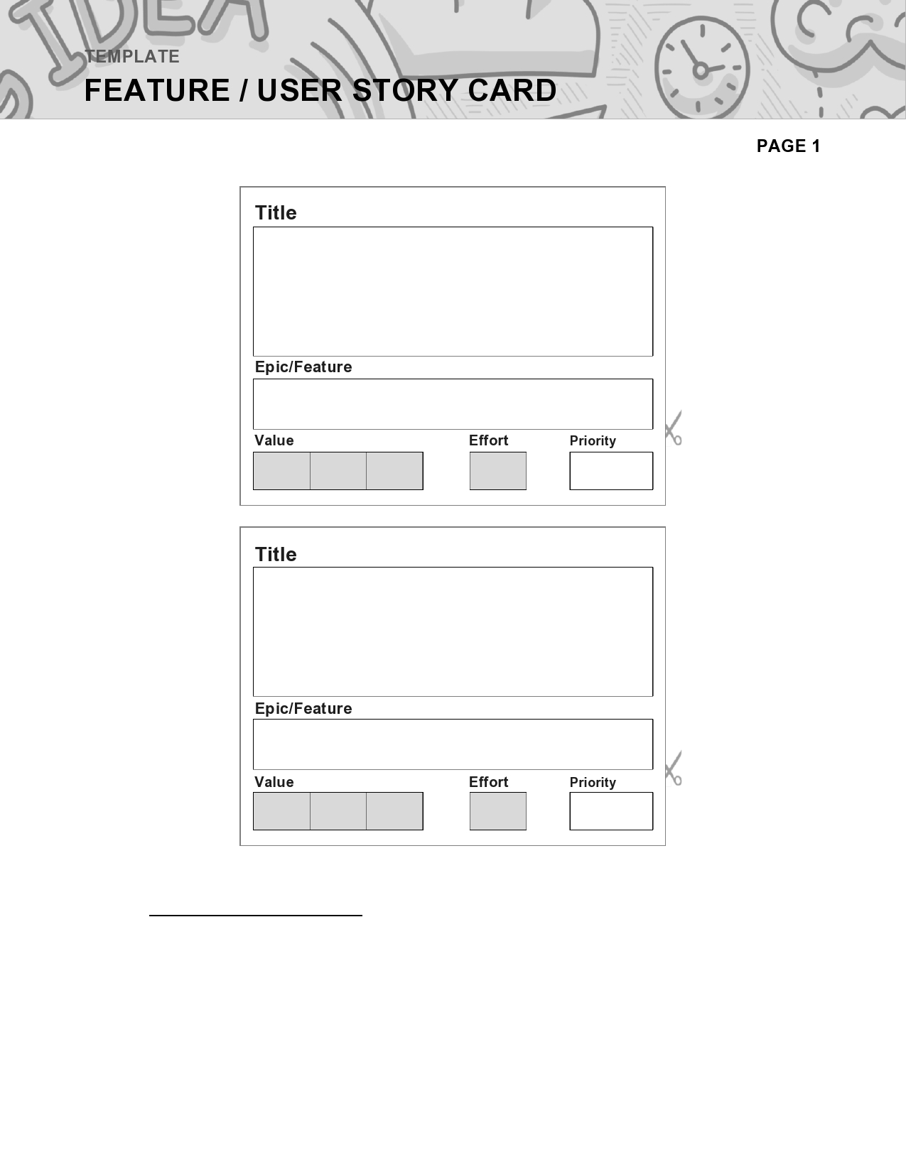 Free user story template 15