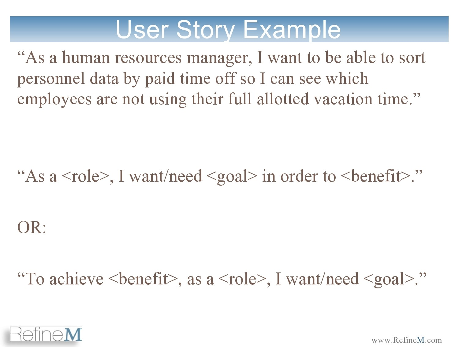 Free user story template 21
