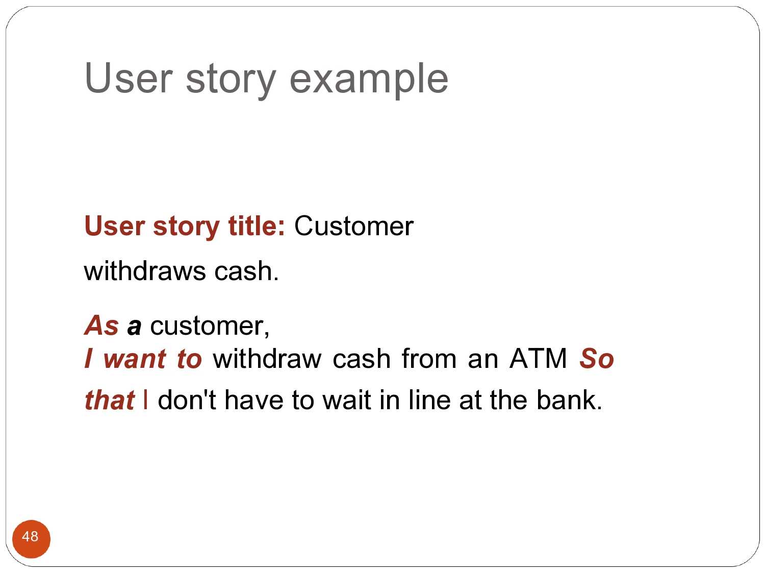 Free user story template 26