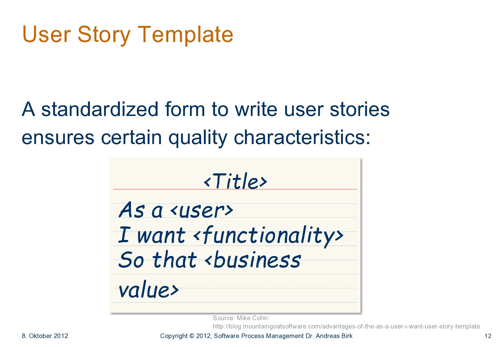 Free user story template 38