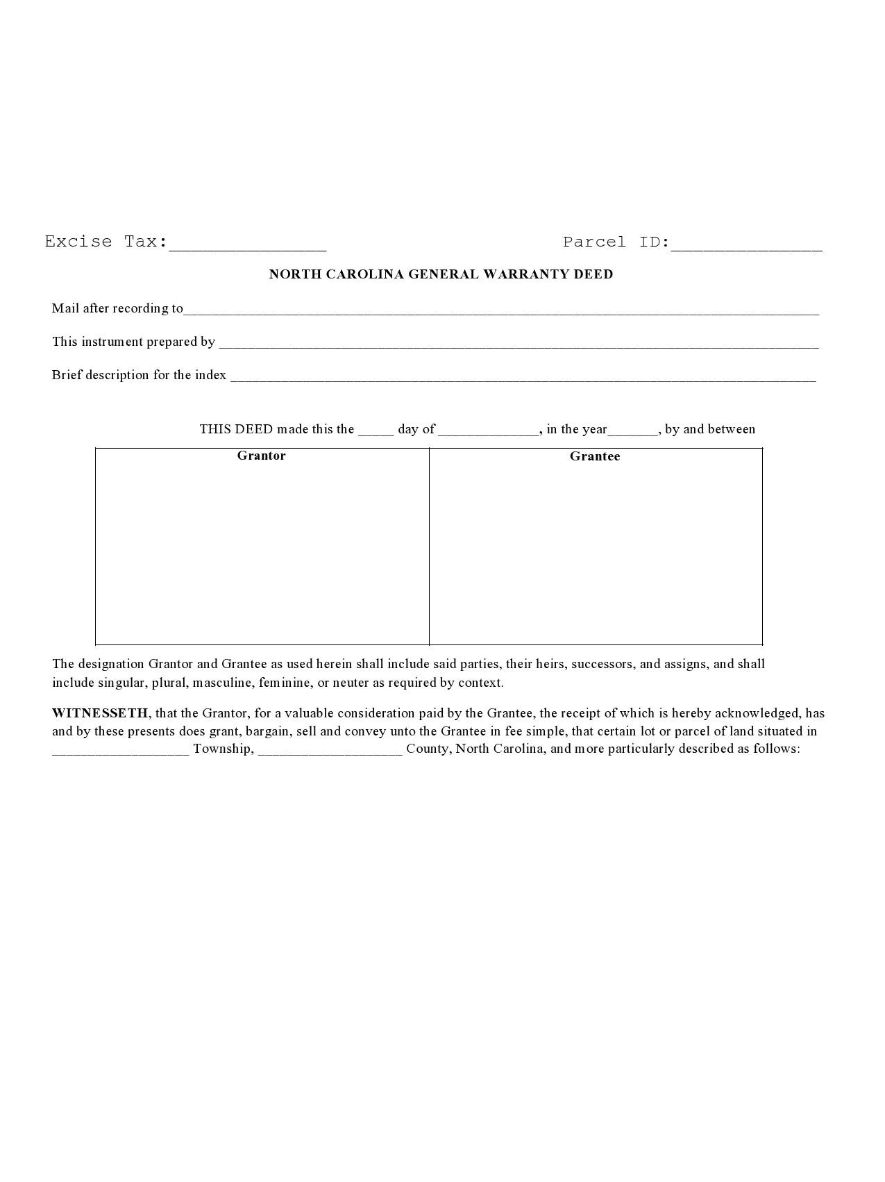 Free warranty deed form 01
