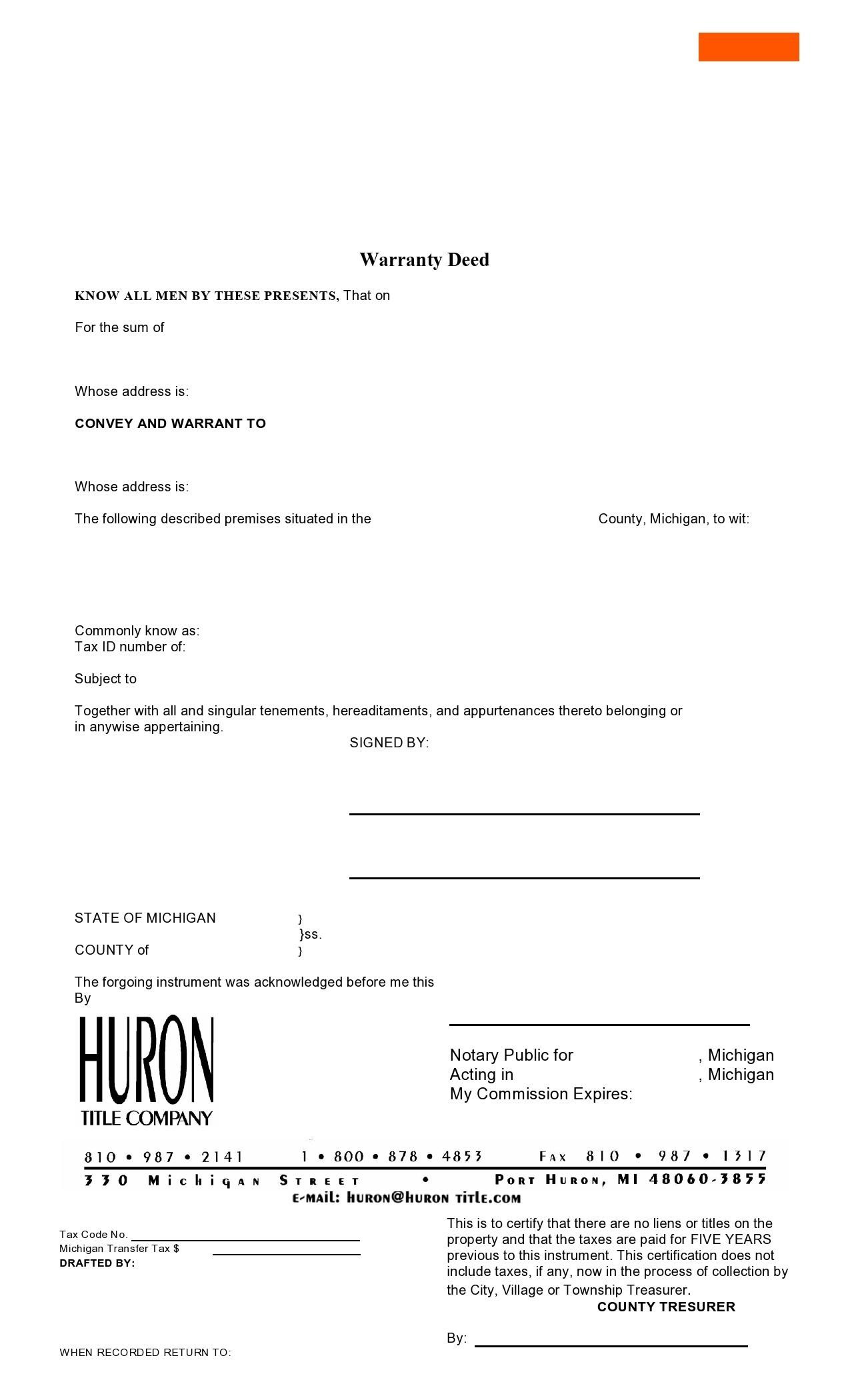 Free warranty deed form 12